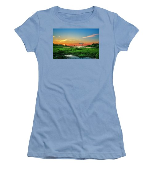 Women's T-Shirt (Junior Cut) featuring the photograph Twilights Arrival by Marvin Spates
