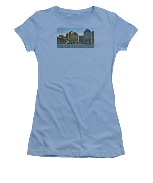 Twin Purdy Towers Of Halifax Women's T-Shirt (Junior Cut) by Ken Morris