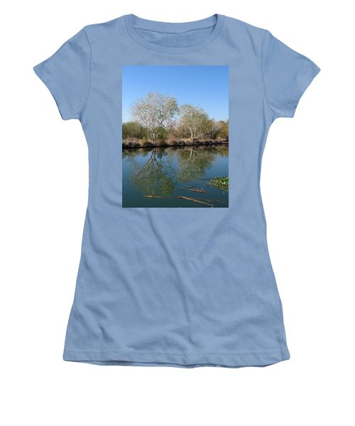 Women's T-Shirt (Junior Cut) featuring the photograph Two Reflected by Laurel Powell