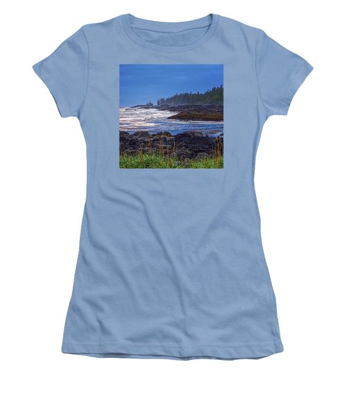 Ucluelet, British Columbia Women's T-Shirt (Junior Cut) by Heather Vopni