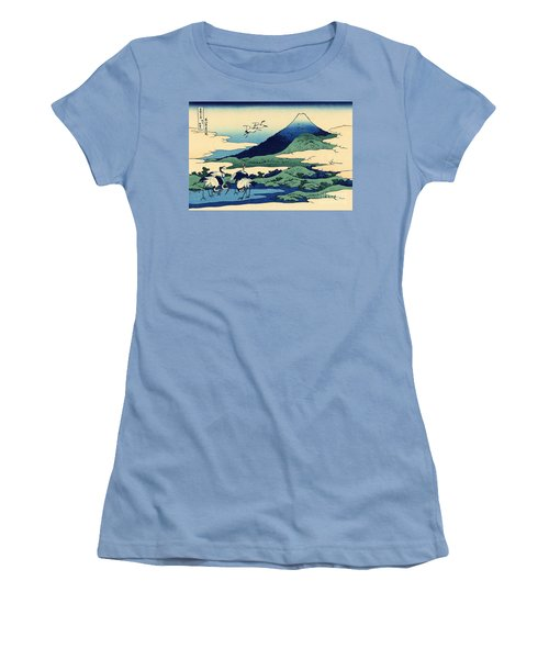 Umegawa In Sagami Province, One Of Thirty Six Views Of Mount Fuji Women's T-Shirt (Athletic Fit)