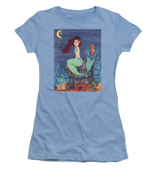 Under The Merlight Sea Women's T-Shirt (Athletic Fit)