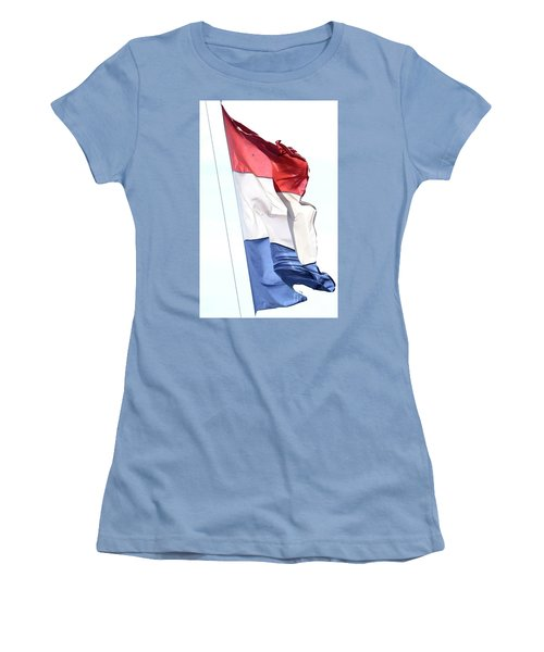Women's T-Shirt (Athletic Fit) featuring the photograph Unfurl 02 by Stephen Mitchell