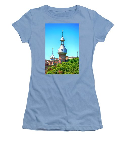 University Of Tampa Minaret Fl Women's T-Shirt (Athletic Fit)