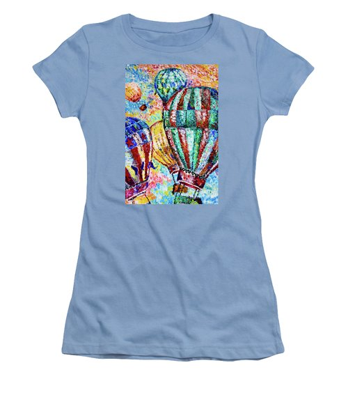 Women's T-Shirt (Junior Cut) featuring the painting Up by Colleen Kammerer