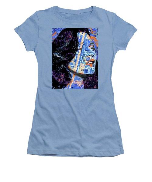 Women's T-Shirt (Junior Cut) featuring the mixed media Vain by Tony Rubino
