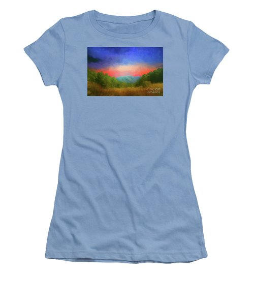 Valley In The Cove Women's T-Shirt (Junior Cut) by Geraldine DeBoer