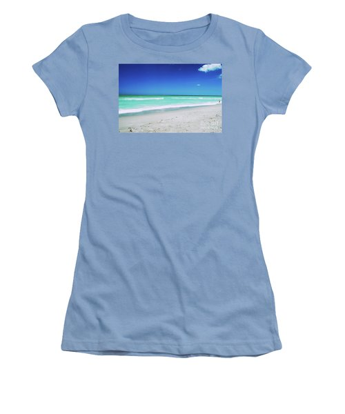 Women's T-Shirt (Athletic Fit) featuring the photograph Venice Beach by Gary Wonning