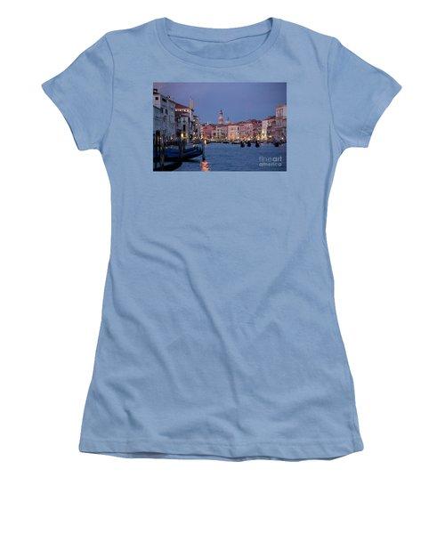 Venice Blue Hour 2 Women's T-Shirt (Junior Cut) by Heiko Koehrer-Wagner