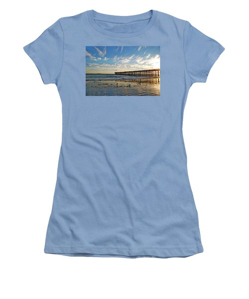 Ventura Pier At Sunset Women's T-Shirt (Athletic Fit)
