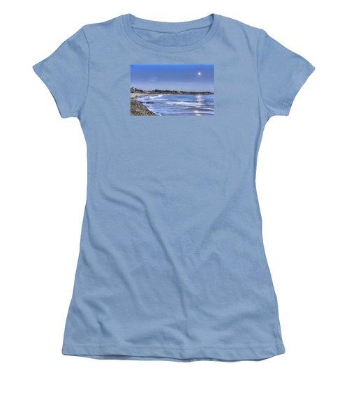 Ventura Pier Moonrise Women's T-Shirt (Athletic Fit)