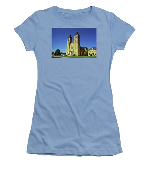 Women's T-Shirt (Junior Cut) featuring the photograph Victoria, Kansas - Cathedral Of The Plains 6 by Frank Romeo