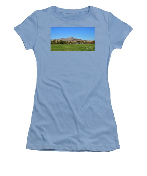 View From Gem Island Sport Complex Women's T-Shirt (Athletic Fit)