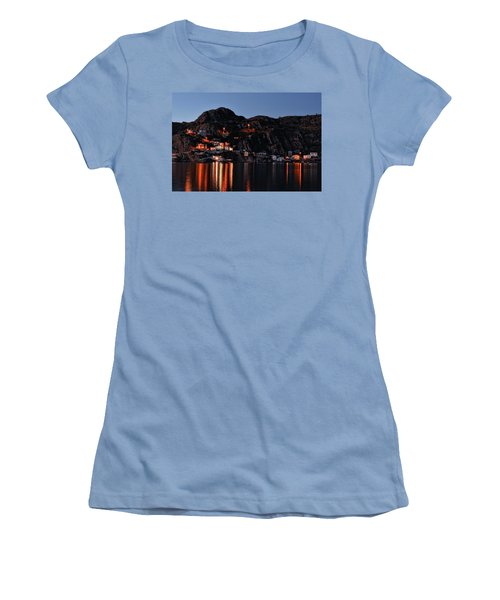 View From The Harbor St Johns Newfoundland Canada At Dusk Women's T-Shirt (Athletic Fit)