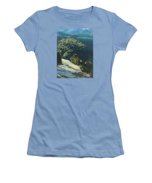 Women's T-Shirt (Junior Cut) featuring the painting View From The Top by Mary Lynne Powers