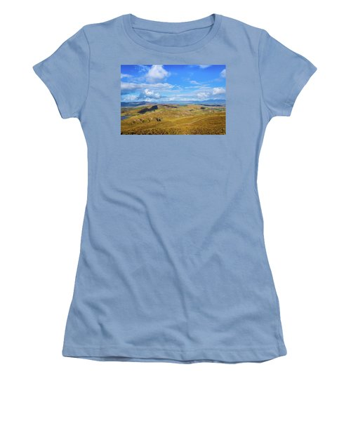 View Of The Mountains And Valleys In Ballycullane In Kerry Irela Women's T-Shirt (Junior Cut) by Semmick Photo