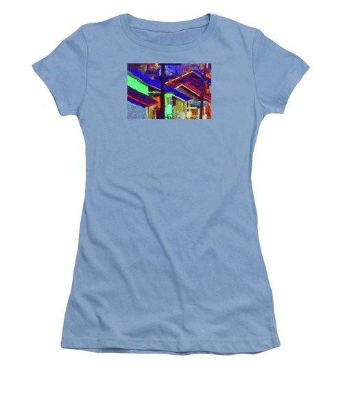 Village Houses Women's T-Shirt (Junior Cut) by Richard Farrington