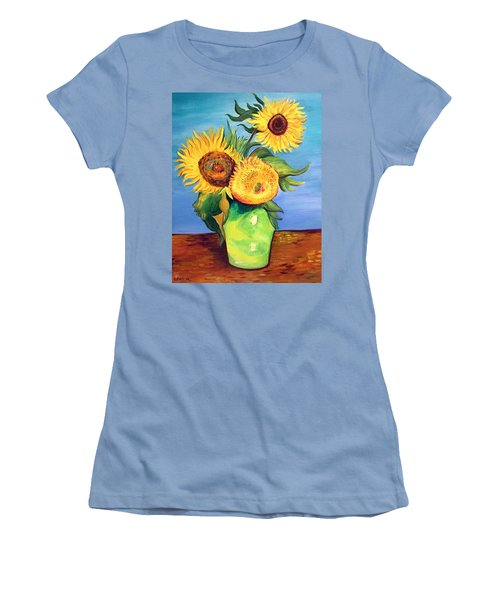 Vincent's Sunflowers Women's T-Shirt (Athletic Fit)