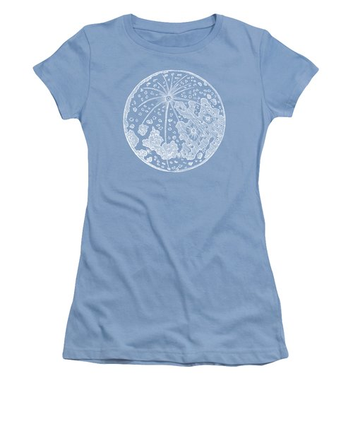 Vintage Planet Tee Blue Women's T-Shirt (Athletic Fit)