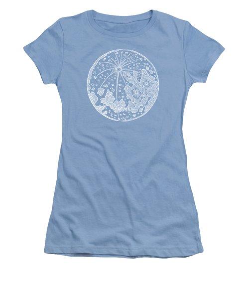 Vintage Planet Tee Blue Women's T-Shirt (Athletic Fit)