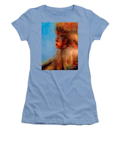Wakantanka Maka Kin Kaye Women's T-Shirt (Junior Cut) by FeatherStone Studio Julie A Miller