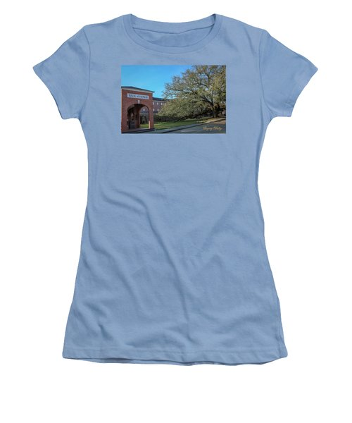 Women's T-Shirt (Junior Cut) featuring the photograph Walk Of Honor Entrance by Gregory Daley  PPSA