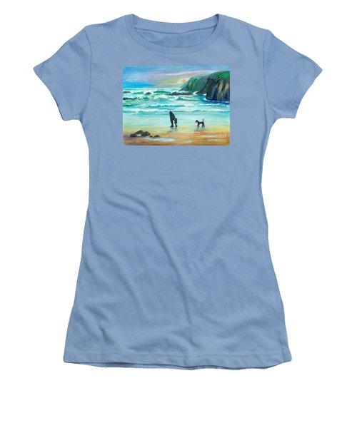 Walking With Grandpa - Painting Women's T-Shirt (Junior Cut) by Veronica Rickard