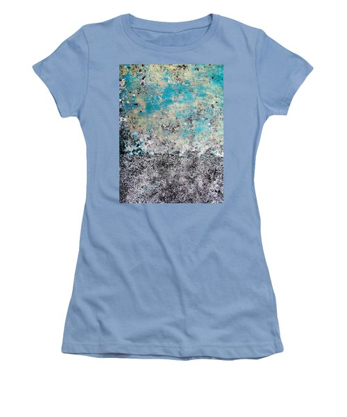 Women's T-Shirt (Junior Cut) featuring the photograph Wall Abstract 174 by Maria Huntley