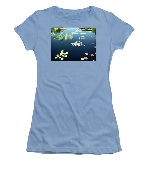 Women's T-Shirt (Junior Cut) featuring the photograph Water Lilies by Marilyn Hunt
