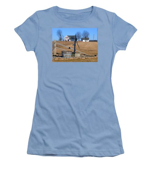 Water Well Women's T-Shirt (Junior Cut) by Tina M Wenger