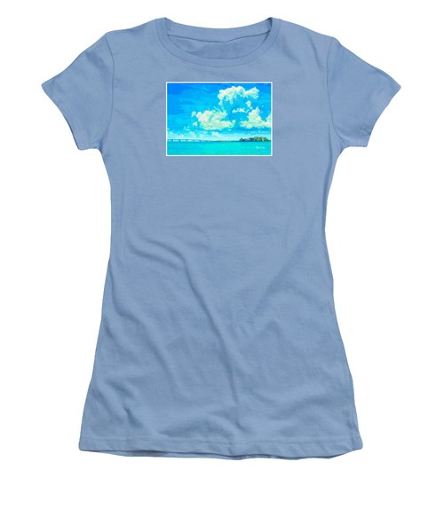 Watercolor Spring On Sarasota Bay Women's T-Shirt (Junior Cut) by Susan Molnar