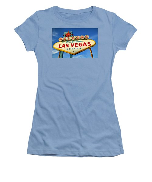 Welcome To Las Vegas Sign Women's T-Shirt (Junior Cut) by Garry Gay