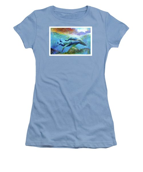 Whale Watch Women's T-Shirt (Athletic Fit)