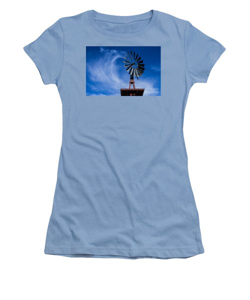 Whipping Up The Clouds Women's T-Shirt (Junior Cut) by Steven Parker