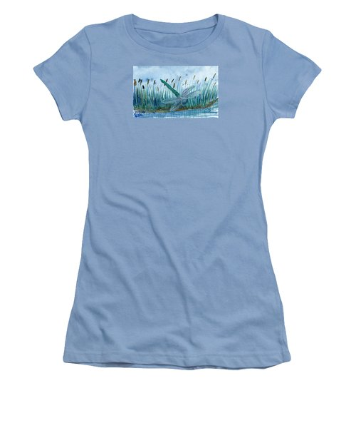 Whispering Cattails Women's T-Shirt (Athletic Fit)