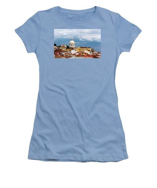 White Dome Against Blue Sky Women's T-Shirt (Athletic Fit)