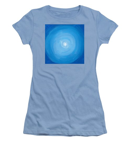 White Dot In Sea Of Blue Women's T-Shirt (Athletic Fit)