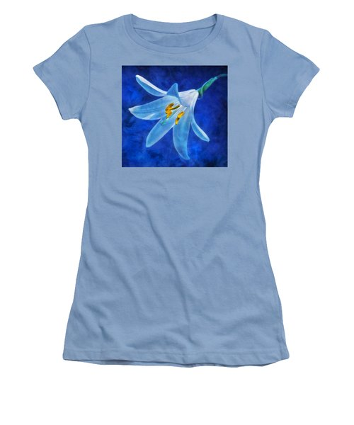 Women's T-Shirt (Junior Cut) featuring the digital art White Lilly by Ian Mitchell