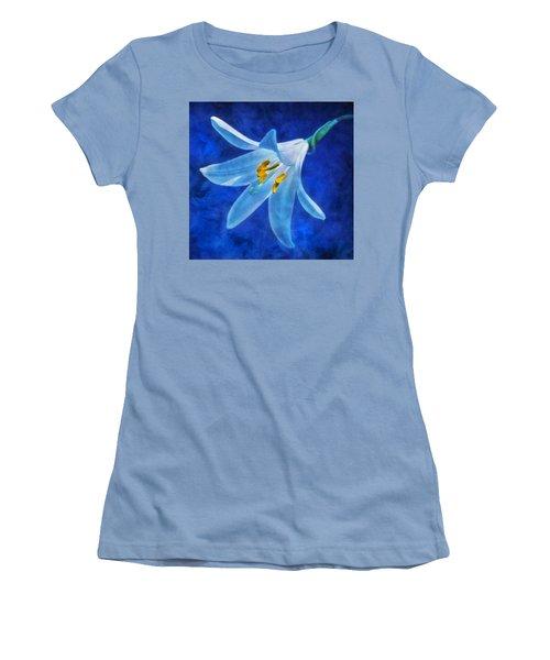 White Lilly Women's T-Shirt (Junior Cut) by Ian Mitchell