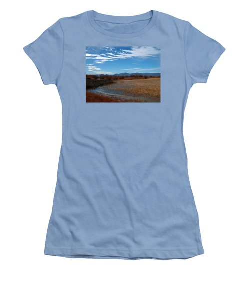 Women's T-Shirt (Junior Cut) featuring the photograph Whitewater Draw by James Peterson
