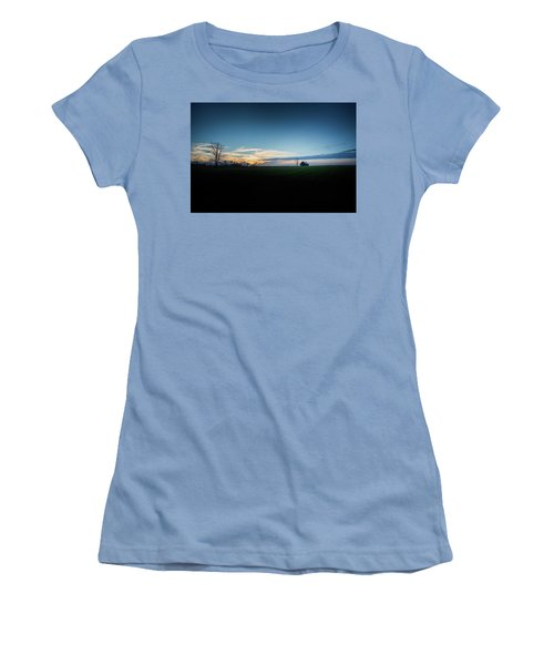 Women's T-Shirt (Junior Cut) featuring the photograph Wide Open Spaces by Shane Holsclaw