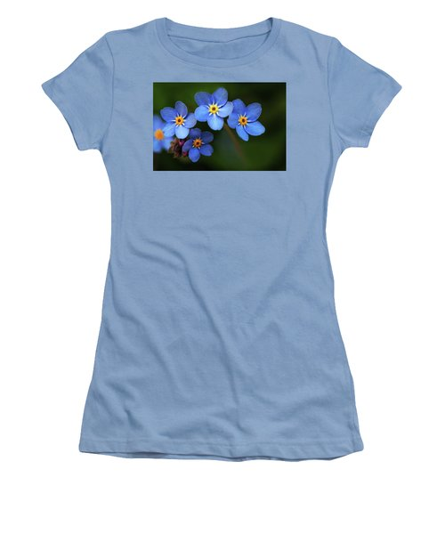 Wild Flower Forget-me-not Since The Middle Ages Symbolizes The Celestial Eye And Reminds You Of God Women's T-Shirt (Athletic Fit)