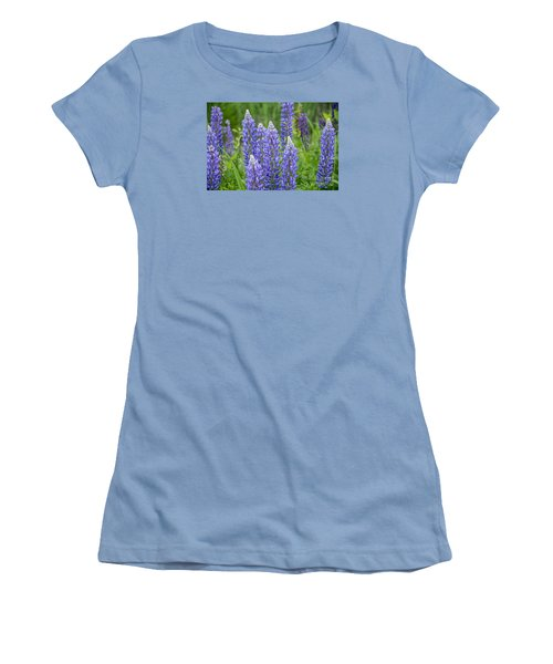 Women's T-Shirt (Junior Cut) featuring the photograph Wild Lupine by Alana Ranney