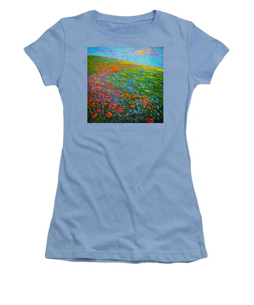 Wildflower Pastoral Women's T-Shirt (Athletic Fit)