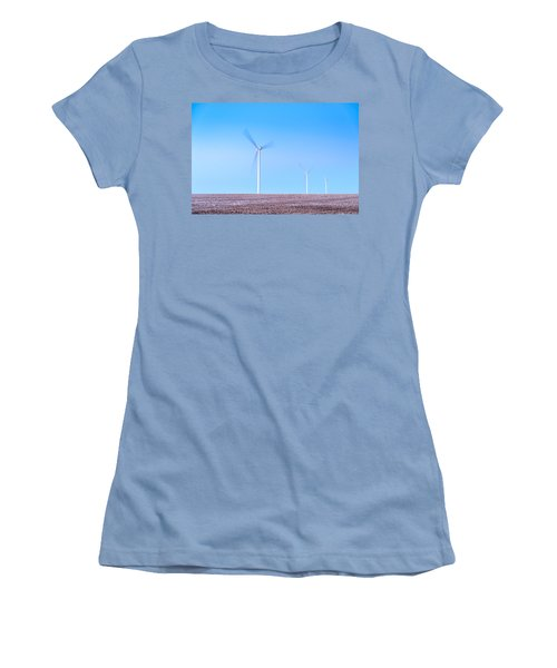 Wind Turbines Women's T-Shirt (Athletic Fit)