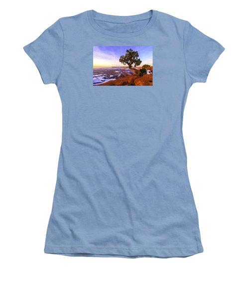 Winter At Dead Horse Women's T-Shirt (Junior Cut) by Chad Dutson