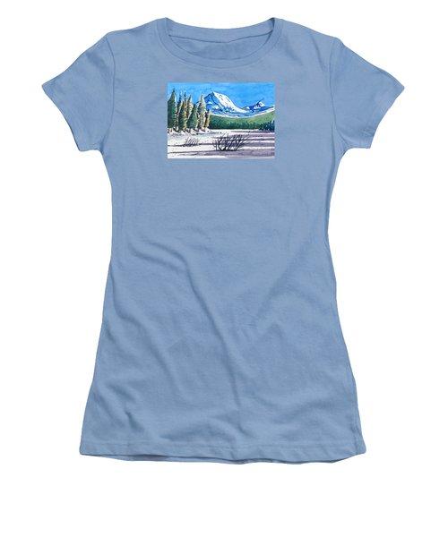 Winter At Mt. Lassen Women's T-Shirt (Junior Cut) by Terry Banderas