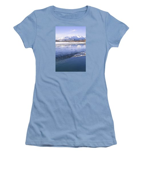 Winter Blues Women's T-Shirt (Junior Cut) by Michele Cornelius