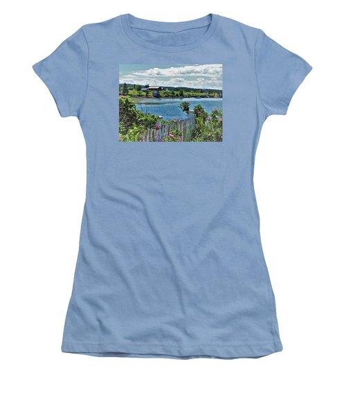 Winter Harbor Women's T-Shirt (Athletic Fit)