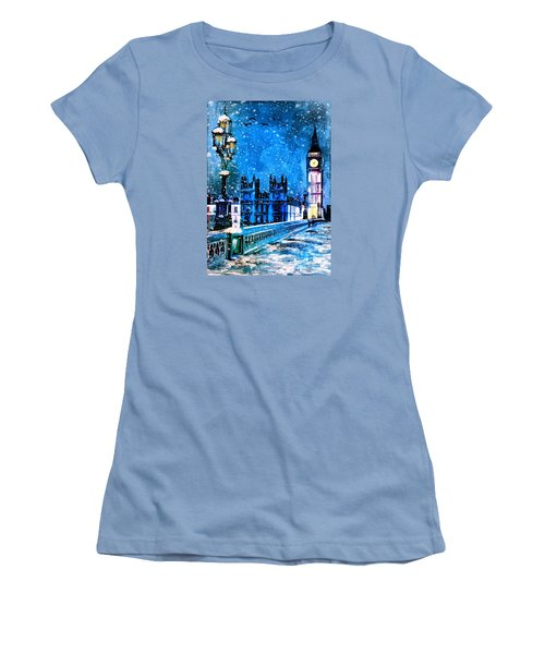 Winter In London  Women's T-Shirt (Junior Cut) by Andrzej Szczerski
